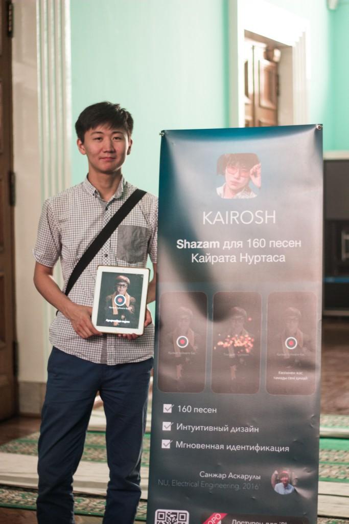 Санжар Аскарулы Nazarbayev University '2016, School of Engineering, Electrical Engineering. 3-ье место на Astana Startup Weekend 2014. Опубликованная научная статья на тему мемристоров по integrated circuits.